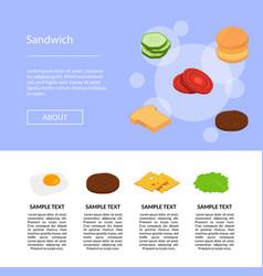 isometric burger ingredients set vector image