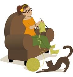 Knitter vector image