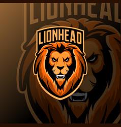 Lion mascot logo esport vector