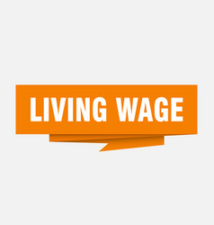 Living wage vector