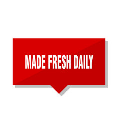 made fresh daily red tag vector image