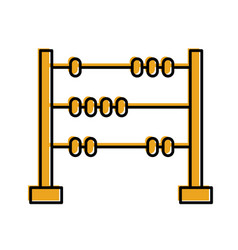 Math abacus isolated icon vector