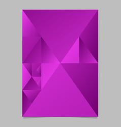 Minimal violet abstract triangle mosaic brochure vector