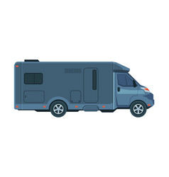 modern rv truck mobile home for summer trip vector image