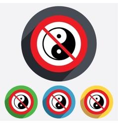 No Ying yang sign icon Harmony and balance vector