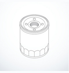 Oil filter isolated vector