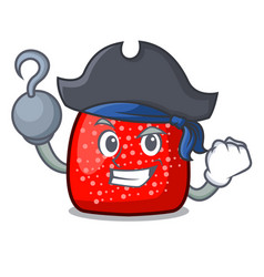 Pirate gumdrop character cartoon style vector