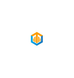 polygon business arrow company logo vector image