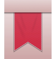 Red bookmark decoration ribbon vector