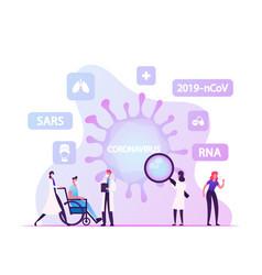 Rna coronavirus infection infographics banner vector