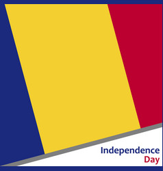 Romania independence day vector