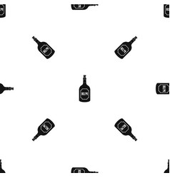 rum pattern seamless black vector image