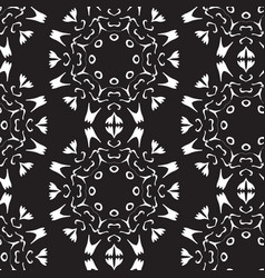 seamless vintage decorative pattern with white vector image