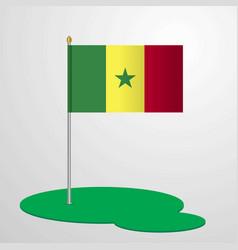 Senegal flag pole vector