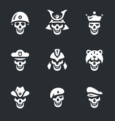 set of skeletons icons vector image