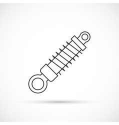Shock absorber outline icon vector
