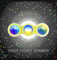 space fidget spinner toy with two blades vector image