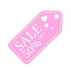 special offer sale tag discount for valentines vector image