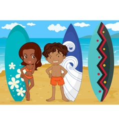 Surf boards vector image