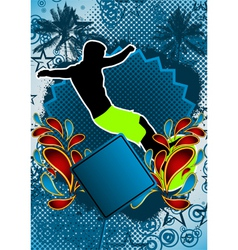 surfing summer background vector image