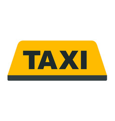 taxi car rosign with a taxi sign icon flat vector image