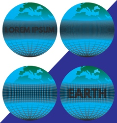 The earth the globe with the text vector image