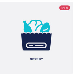 Two color grocery icon from commerce concept vector