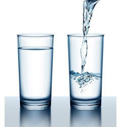two glasses full and vector image