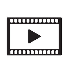 video icon on white background video icon sign vector image
