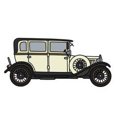 Vintage light limousine vector