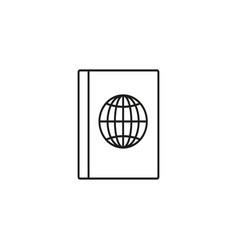 Worldwide passport icon vector