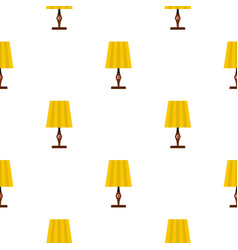 Yellow table lamp pattern seamless vector