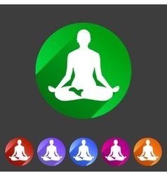 Yoga asana icon flat web sign symbol logo label vector