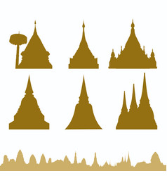 thailand pagoda vector image