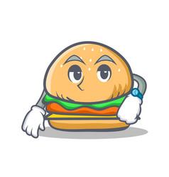waiting burger character fast food vector image