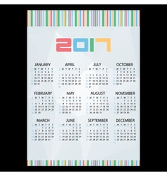 2017 simple business wall calendar abstract paper vector image vector image