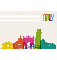Travel Italy destination landmarks skyline vector image