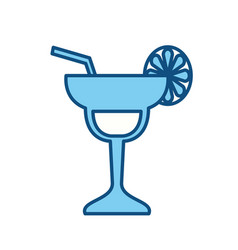 cocktail glass symbol vector image