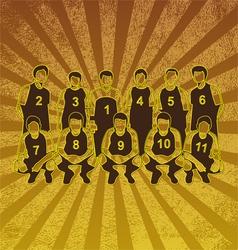 team vector image