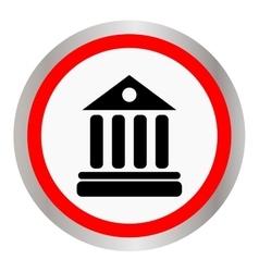 University Icon Isolated on White Background vector image vector image
