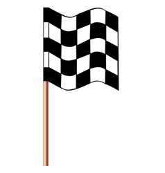 Chequered racing flag vector