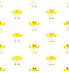 chick in eggshell seamless vector image