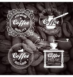 Coffe set Label Vintage Background vector image vector image