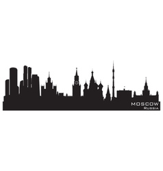 Moscow Russia skyline vector image vector image
