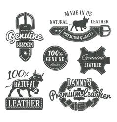 Set of vintage belt logo designs retro vector image vector image