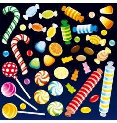 Sweet candies vector