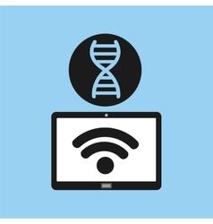 Technology device health genetics concept vector