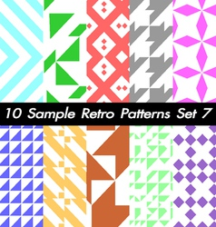 10 Retro Patterns Textures Set 7 vector