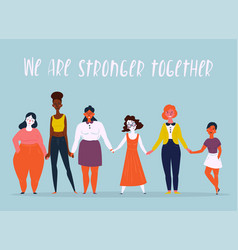 A diverse group of women feminine vector