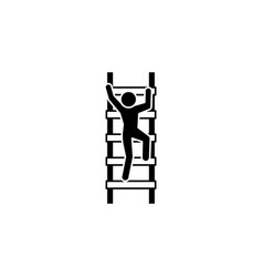 a man climbs the stairs icon black on white vector image